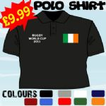 IRELAND WORLD CUP PERSONALISED RUGBY 2011 T POLO SHIRT